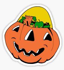 Jack-O-Lantern Candy Bucket Sticker