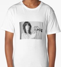 Patti Smith with a video camera Long T-Shirt