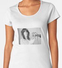 Patti Smith with a video camera Women's Premium T-Shirt