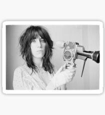 Patti Smith with a video camera Sticker