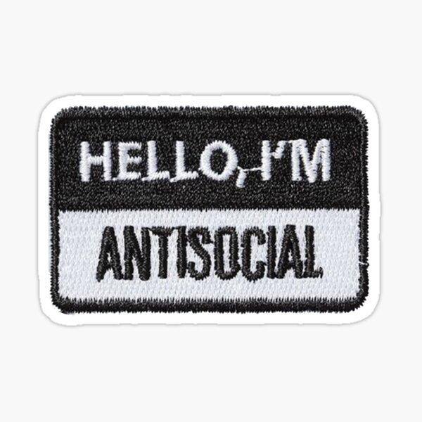 Bonjour Im Patch antisocial Sticker