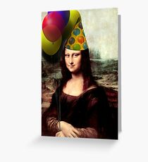 Mona Lisa Birthday  Greeting Card