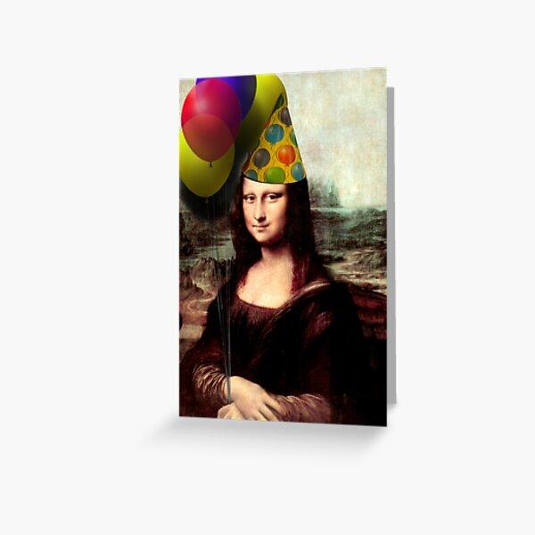 Mona Lisa Birthday  Greeting Card