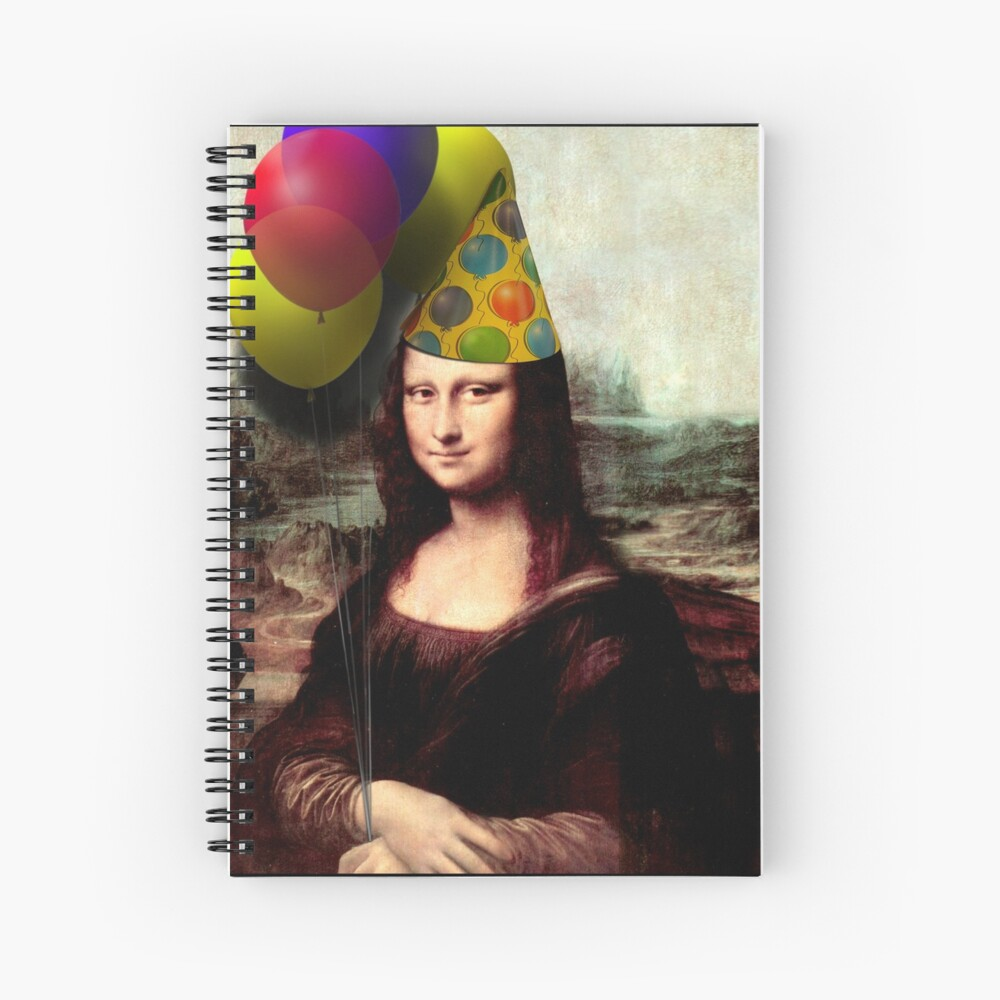 Mona Lisa Birthday  Spiral Notebook