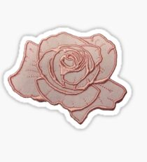 Roségold-Patch Sticker