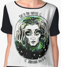 Call in the Spirits Women's Chiffon Top