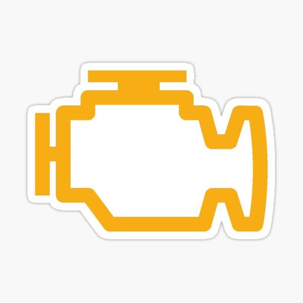 Check Engine Light Sticker