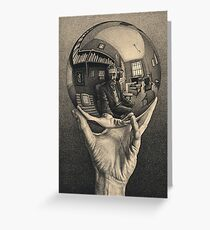 ESCHER REFLECTED BALL Greeting Card