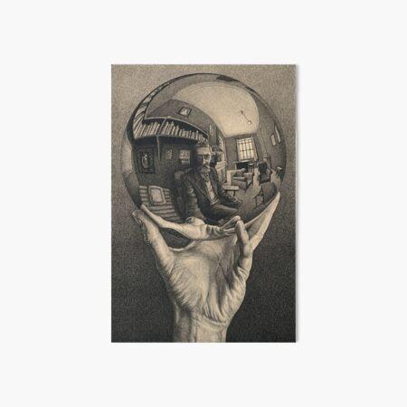 ESCHER REFLECTED BALL Art Board Print