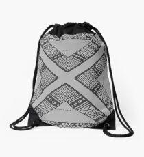black. & white. Drawstring Bag