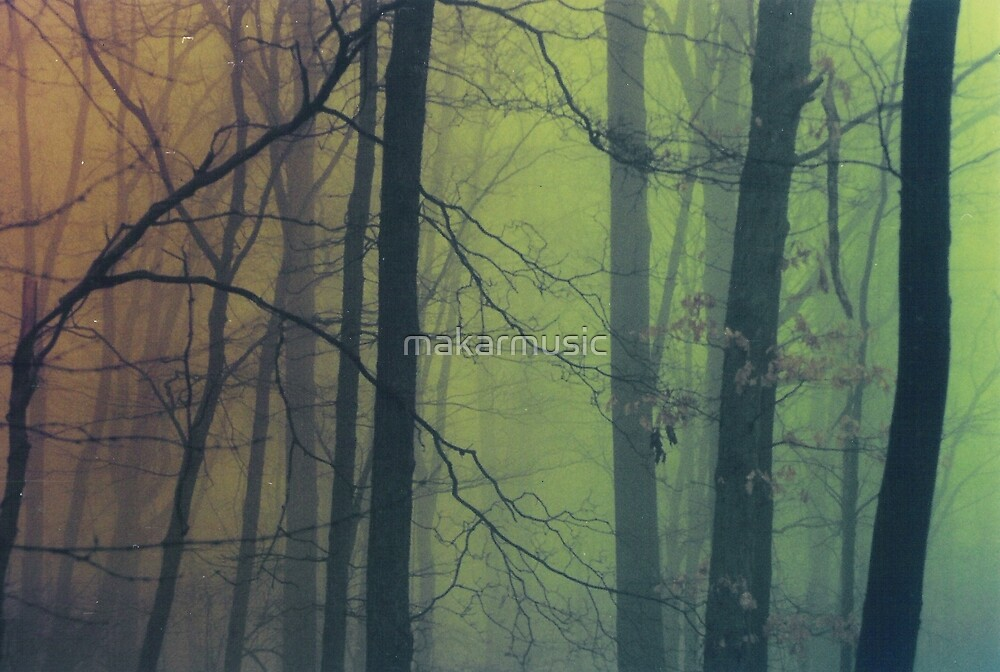 Nuclear Trees Green and Orange by makarmusic