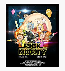 Rick and Morty Star Wars Photographic Print