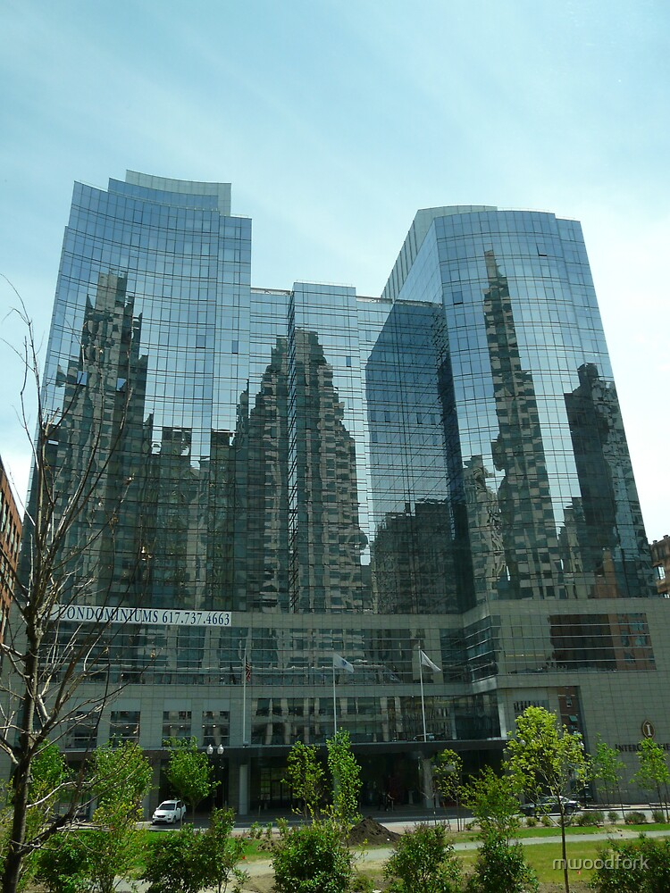 reflection of boston by mwoodfork
