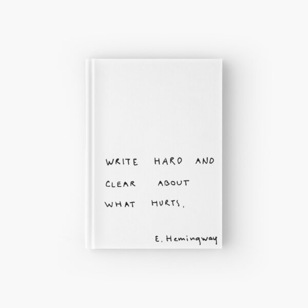 Write hard and clear about what hurts.  Hardcover Journal