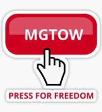 MGTOW: Men Going Their Own Way Red Sticker