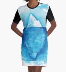 Iceberg. Watercolor hand painting illustration. Graphic T-Shirt Dress