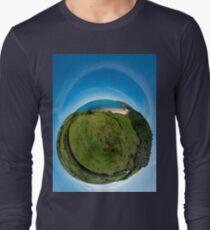 Kinnagoe Bay (as a floating green planet) Long Sleeve T-Shirt