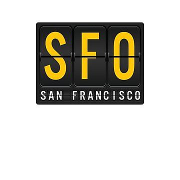 SFO - San Francisc Airport Code by albertellenich