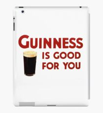 Guiness is good for you (and me) HQ iPad Case/Skin