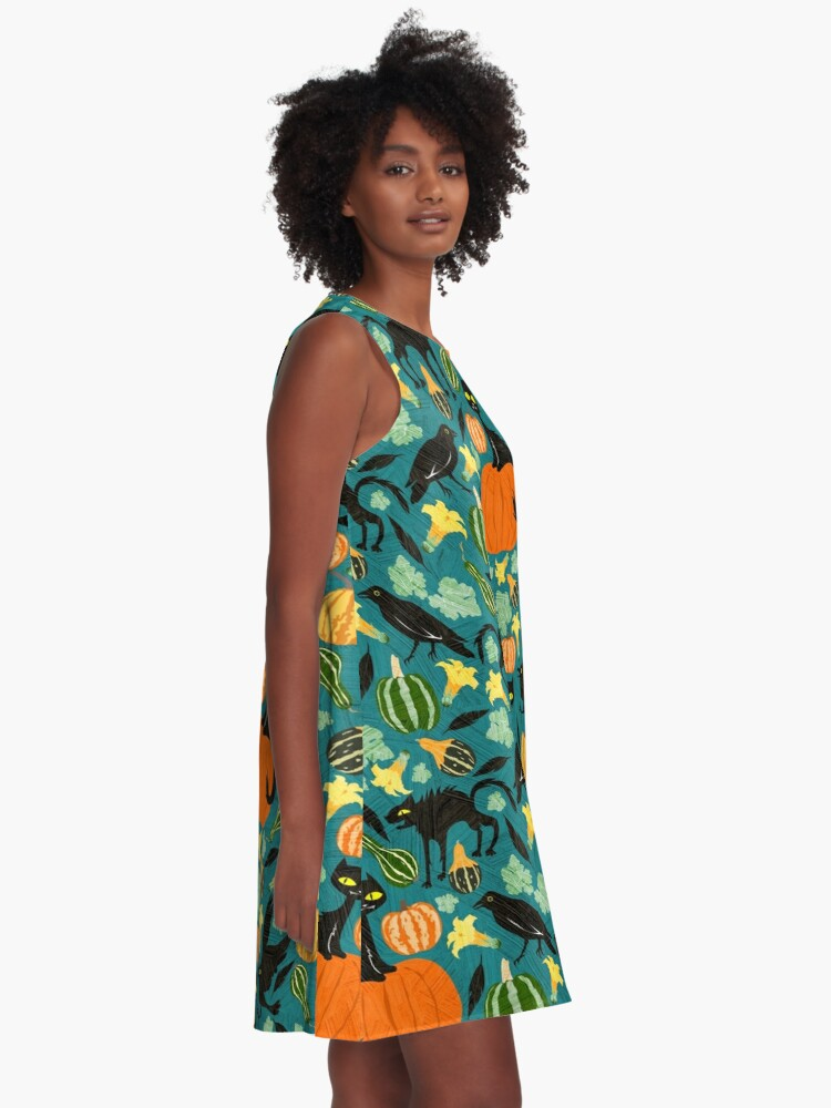 Alternate view of Crows and cats A-Line Dress