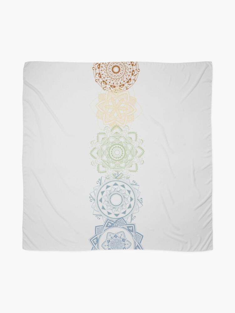 Alternative Ansicht von Chakra Mandalas Tuch