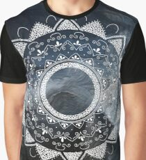 Precious white mandala on sky Graphic T-Shirt