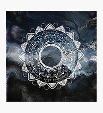 Precious white mandala on sky Photographic Print