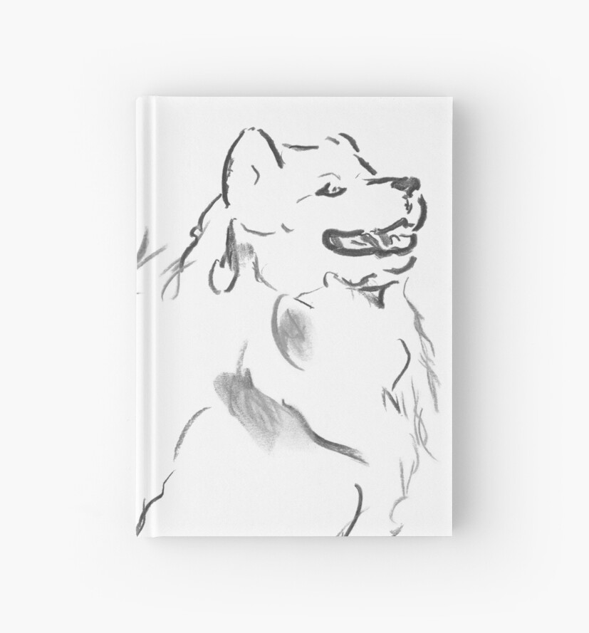 Samoyed Drawing by Douglas Rickard