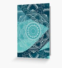 singing white mandala Greeting Card