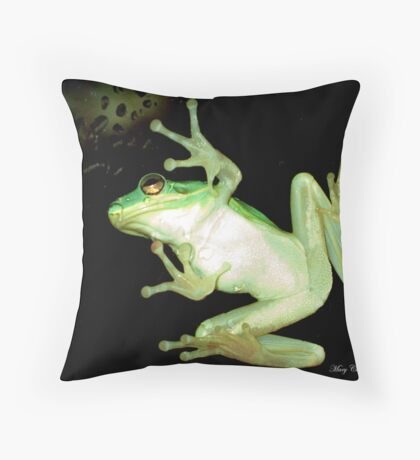 Tip Toe Thru the Rain Drops Throw Pillow