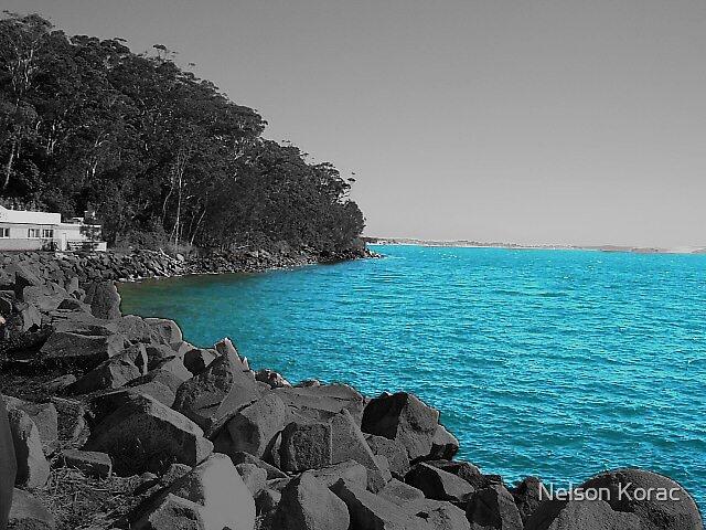 Rocks on the Ocean by Nelson Korac