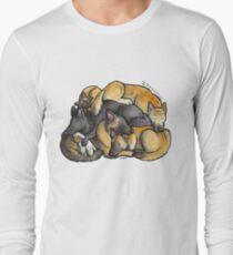 Sleeping pile of Belgian Shepherd dogs T-Shirt