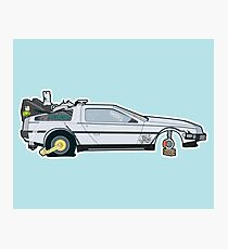 Busted: DeLorean DMC-12 Photographic Print