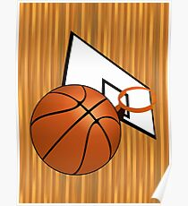 Basketball with Hoop Poster