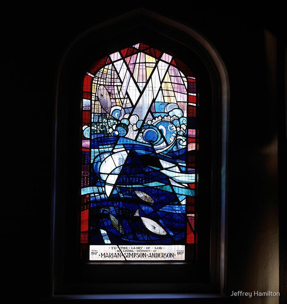 Memorial window, St Andrew's Uniting Church, Longueville by Jeffrey Hamilton