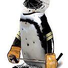Little Mascot Hockey Player Penguin by Gravityx9