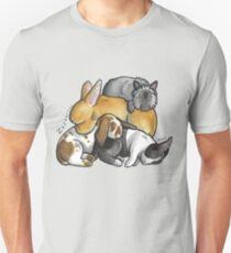 Sleeping pile of pet rabbits T-Shirt