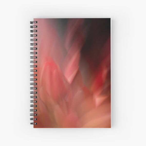 Fleur Blur-Abstract Red Leaves Photo Spiral Notebook