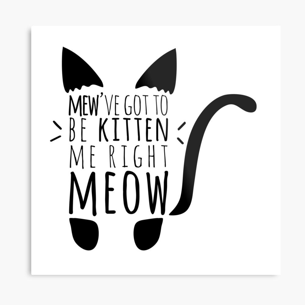 Kitten me Right Meow Cat Pun Metal Print