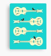 Birds On Guitar Strings Canvas Print