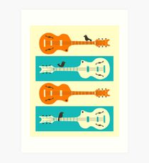 BIRDS ON GUITAR STRINGS Art Print