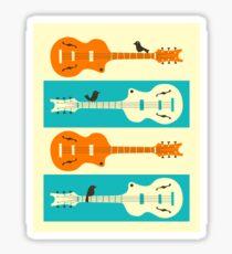 BIRDS ON GUITAR STRINGS Sticker