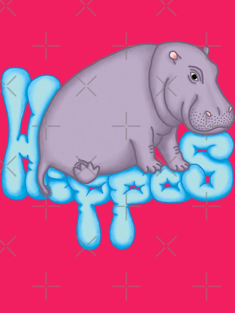 Squashy Hippo - Aqua by Hippopottermiss