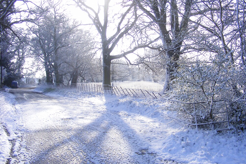 Winter scene in worcstershire by andyb1