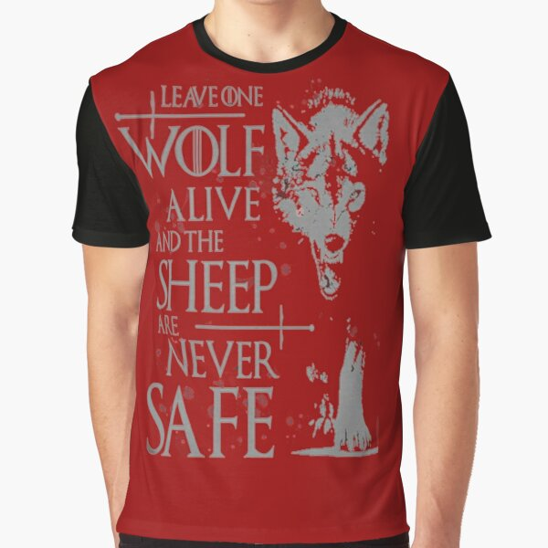 Thrones wolf t-shirt best quote Graphic T-Shirt