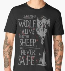 Thrones wolf t-shirt best quote Men's Premium T-Shirt