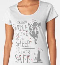 Thrones wolf t-shirt best quote Women's Premium T-Shirt