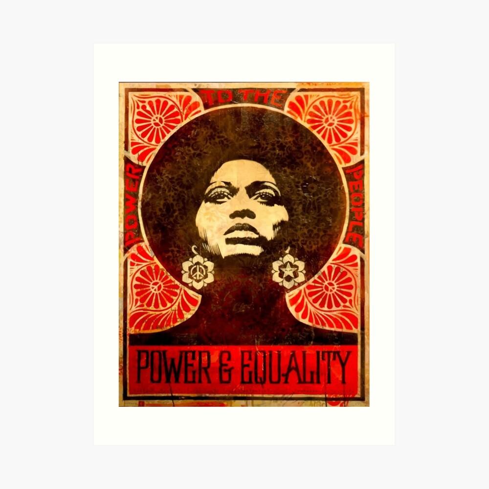 Angela Davis Plakat 1971 Kunstdruck