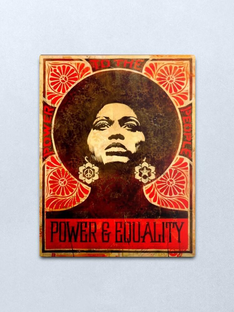 Alternate view of Angela Davis poster 1971 Metal Print