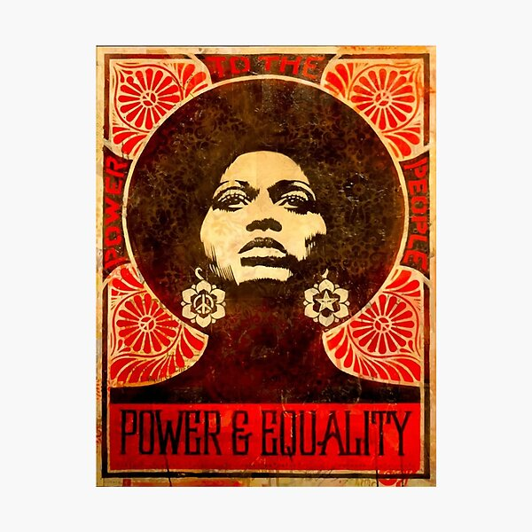 Angela Davis poster 1971 Photographic Print